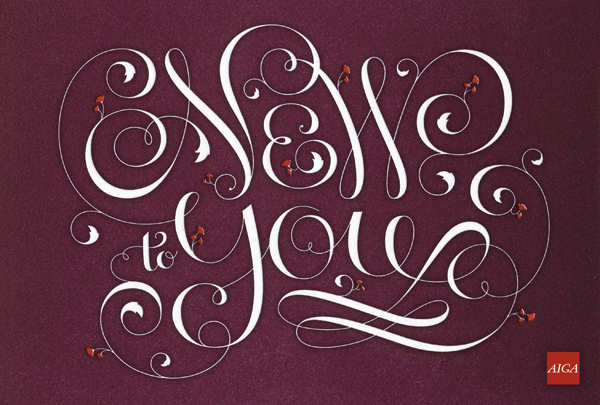 newtoyoupostcard Featured Typography Artist: Jessica Hische