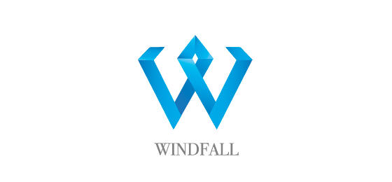 windfall one thumb Logo Design