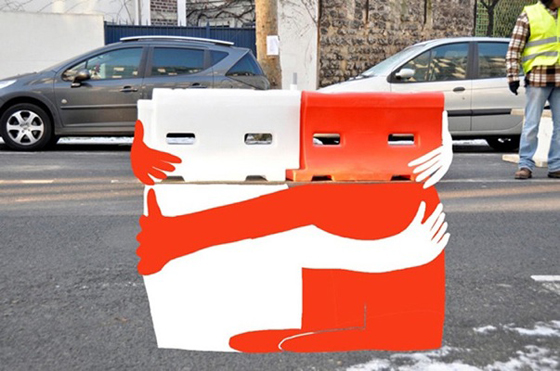 free hug The Heart Warming Street Art of Sandrine Boullet