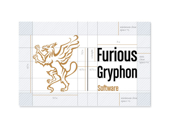 logo measurements2 Furious Gryphon Logo Design