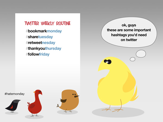 hashtags 12 Adorable Twitter Cartoons