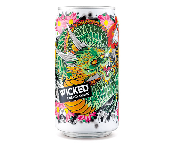 wicked can Wicked Ad and Packaging